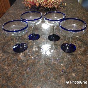 Hand Blown Margarita Glasses